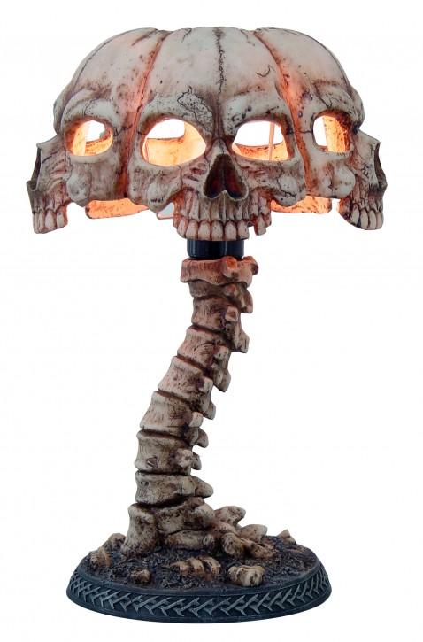 Totenkopf Tischlampe