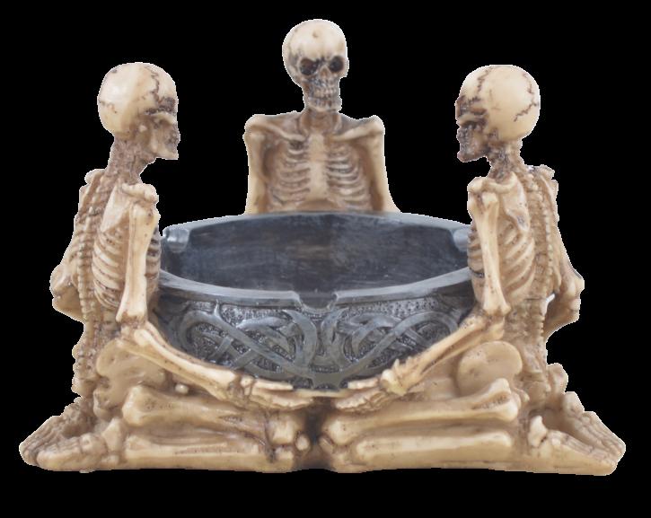 3er Skelett Aschenbecher