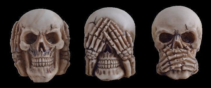 Set of 3 skulls No evil ...