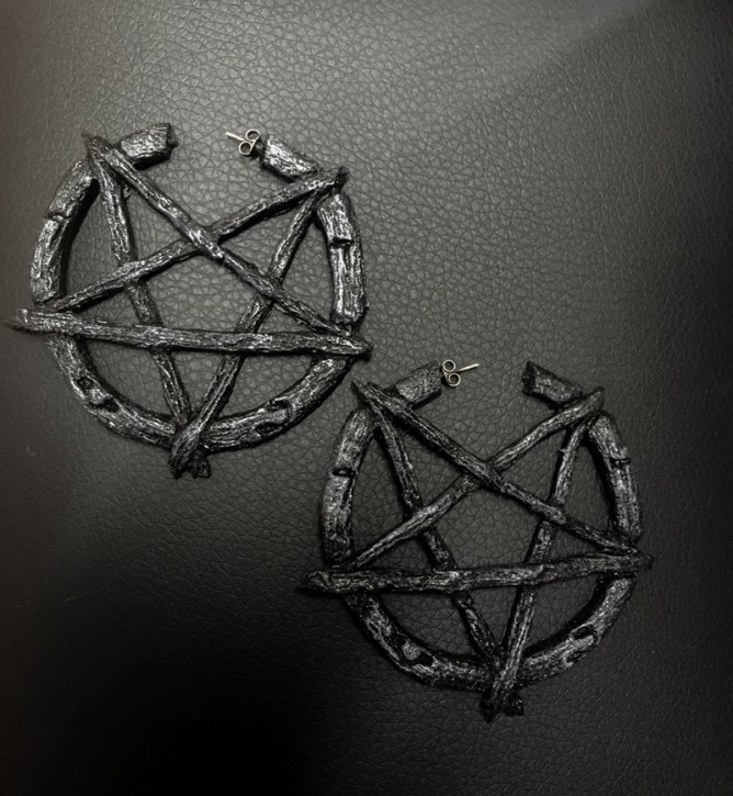 Ohrringe Pentagram