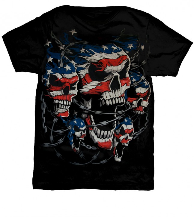USA Skull T-Shirt No.: 1