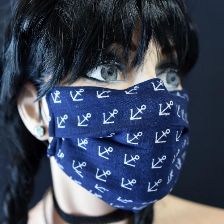 """Mund-Nasen Behelfs Maske """"Anker"""""""
