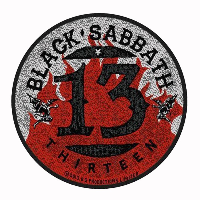Patch Black Sabbath  13 / Flames Circular