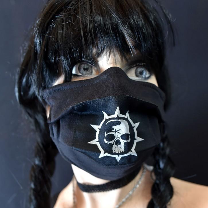 "Mund-Nasen Behelfs Maske ""Band-Krankheit"""