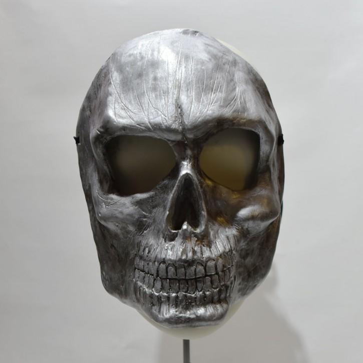 Maske Skull silver