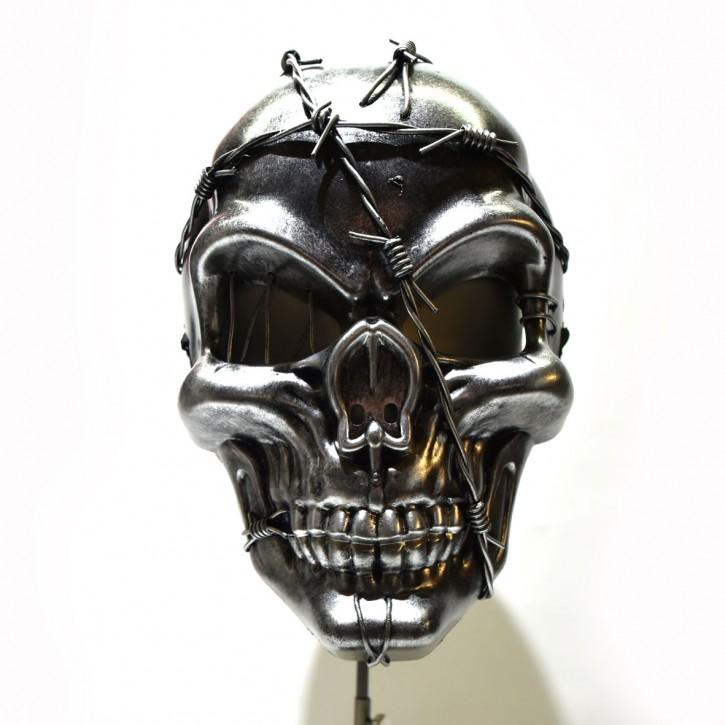 Totenkopfmaske silver