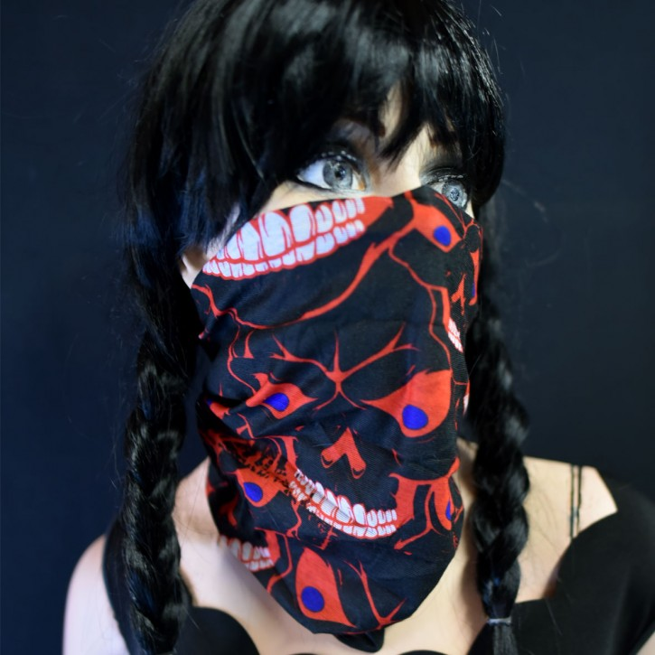 "Multifunctional scarf ""Skull red"""