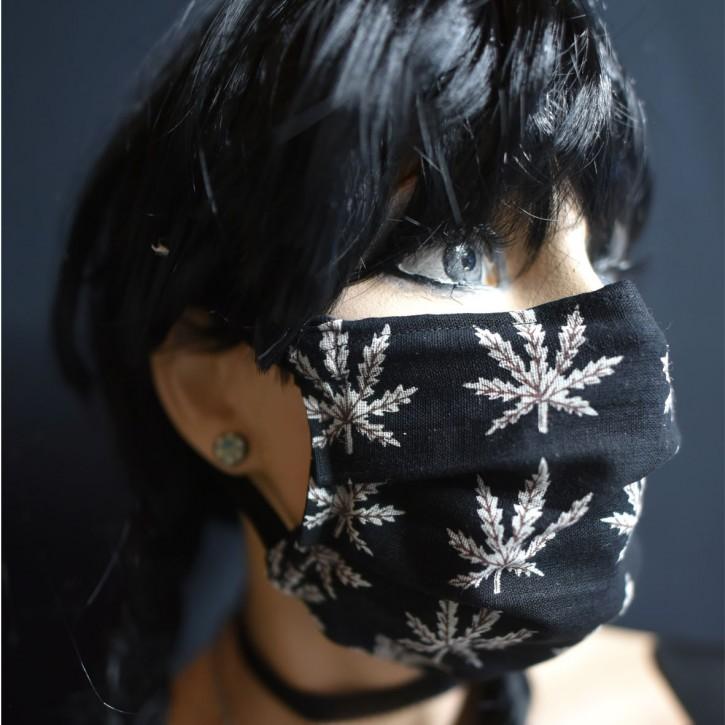 """Mund-Nasen Behelfs Maske """"Blatt"""""""