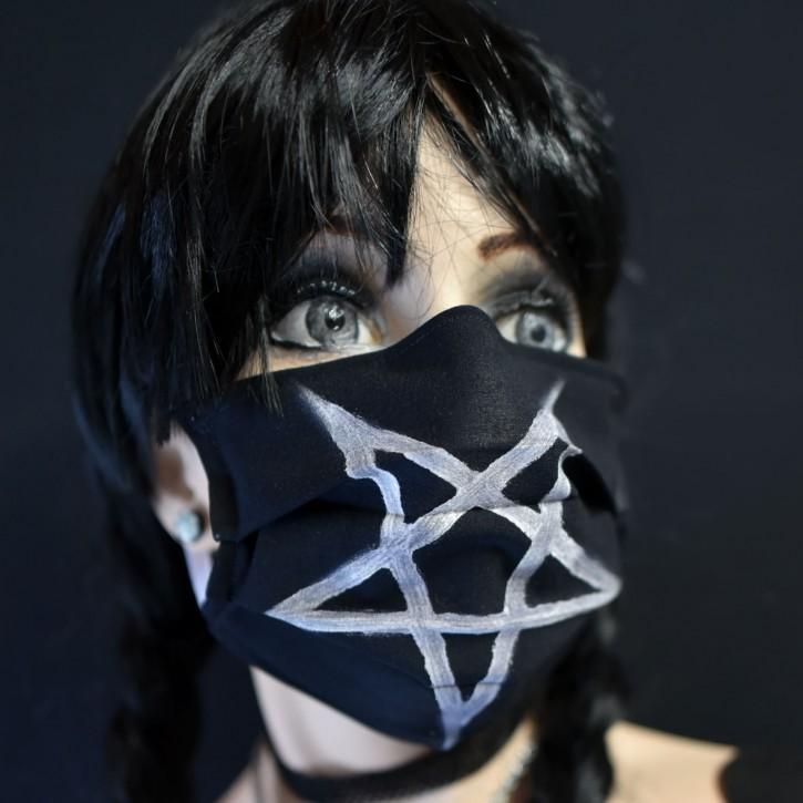 """Mund-Nasen Behelfs Maske """"Pentagram"""""""
