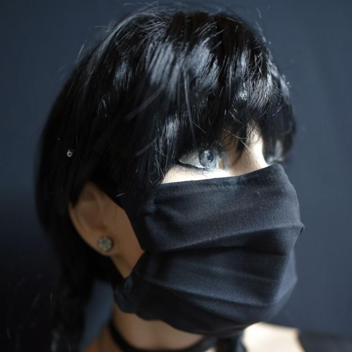 """Mund-Nasen Behelfs Maske """"Schwarz"""""""