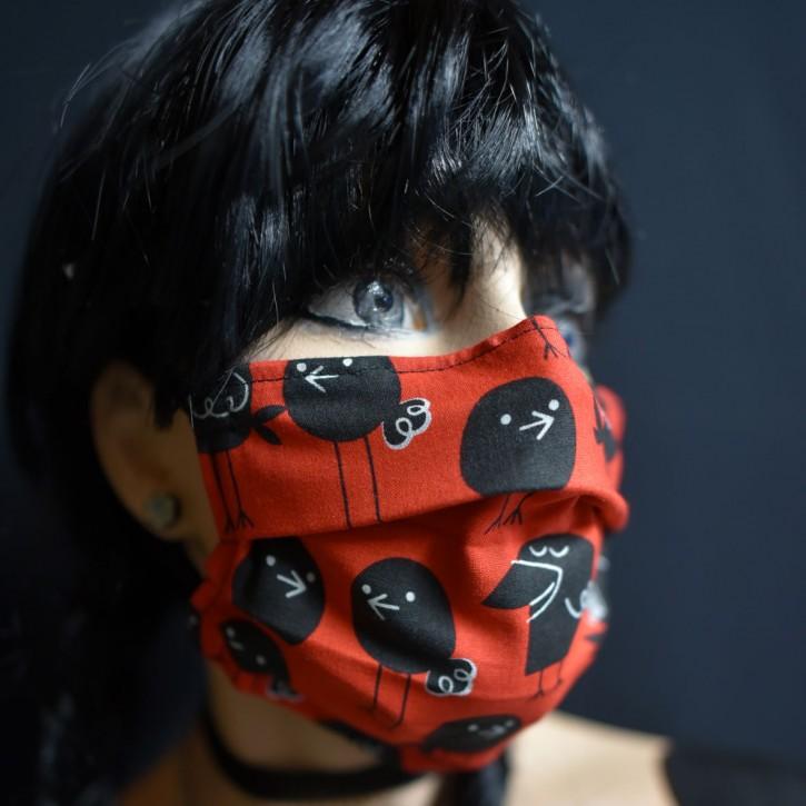 """Mund-Nasen Behelfs Maske """"Rabe"""""""
