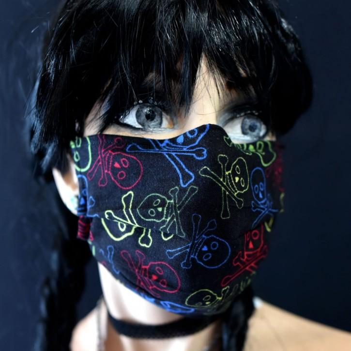 """Mund-Nasen Behelfs Maske """"Skulls"""""""