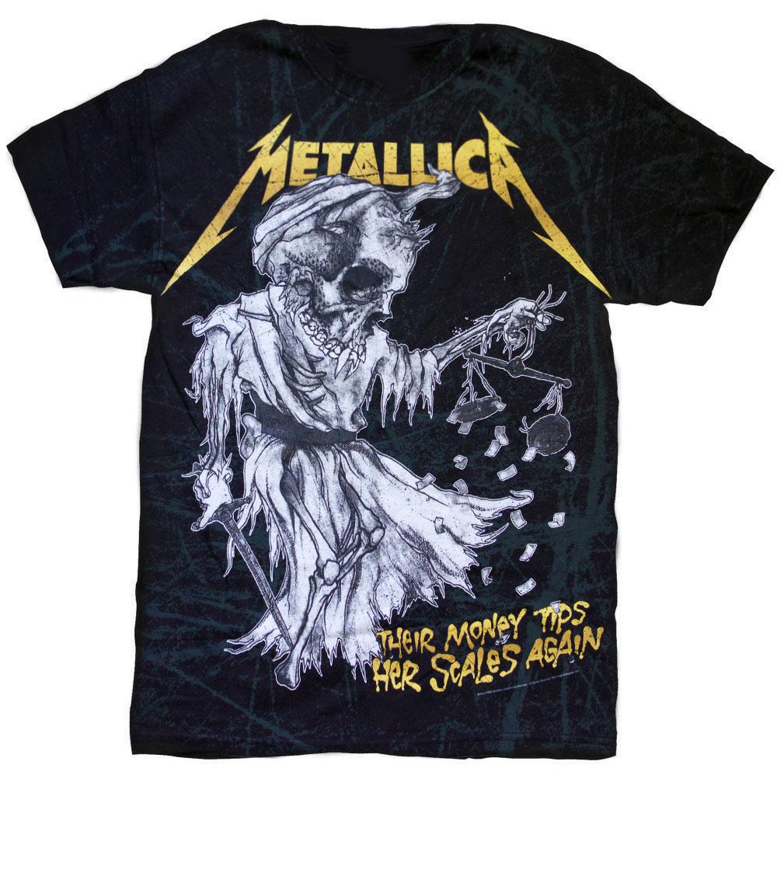 THEIR MONEY Metallica Tee arBRmh