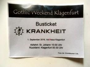 Krankheit Bus ticket