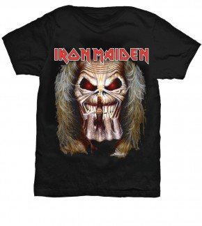 Iron Maiden T-Shirt  Eddie Candle Finger