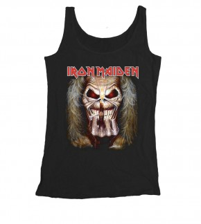 Iron Maiden T-Shirt Sleeve less  Eddie Candle Finger