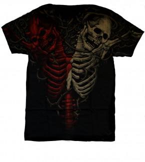 Doppel Skelett T-Shirt Nr.: 1