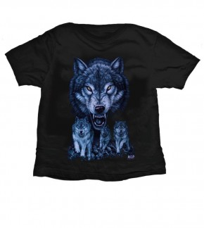 Kids-T-Shirt Wolf