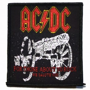 Patch AC/DC for those about to rock we salute you
